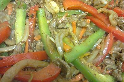 什锦蔬菜炒羊肉