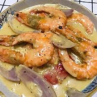 #一道菜表白豆果美食#芝士大虾的做法图解11