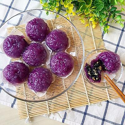 西米紫薯球