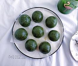 #换着花样吃早餐#蛋黄肉松青团的做法
