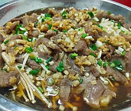 牛肉蒸金针菇的做法