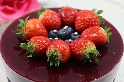 不用烤箱一样做出清新浪漫的生日蛋糕 --- 蓝莓芝士蛋糕