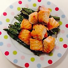 烤芦笋三文鱼