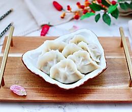 #快手又营养,我家的冬日必备菜品#蒜黄牛肉饺子的做法