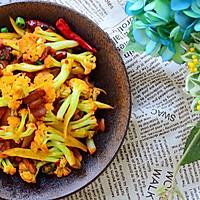 五花肉干煸有机花菜-在家做出饭店的味道#一机多能 一席饪选#的做法图解20