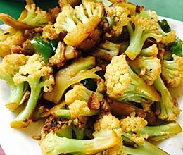 素炒花菜的做法