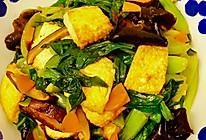 小油菜烧豆腐的做法