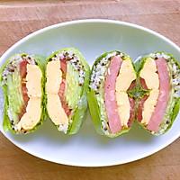 #美食新势力#减脂早餐—生菜包饭卷的做法图解8