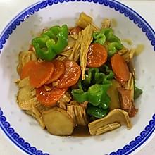 腐竹慢炖杏鲍菇