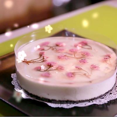樱花酸奶慕斯,给你视觉与味觉的双重诱惑~~