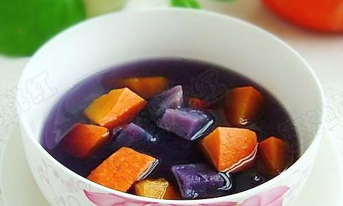 南瓜紫薯汤的做法