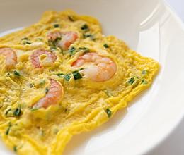 鲜虾仁煎蛋的做法