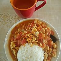 一个人的午餐——西红柿鸡蛋盖饭的做法图解8