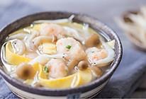 银鱼虾滑菌菇汤的做法
