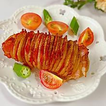 #夏日开胃餐#香烤培根风琴土豆