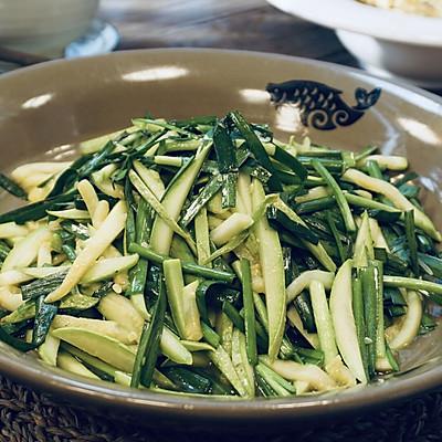 韭菜西葫芦丝