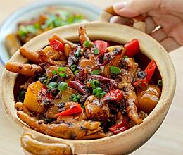 #肉食者联盟#芽菜酱鸡脚煲|咸鲜微辣的做法