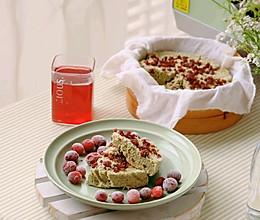 """#""""莓""""好春光日志#艾草蔓越莓米糕的做法"""
