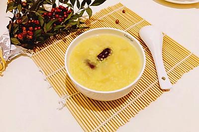 梨子红枣小米粥
