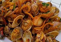 迅速光盘的辣炒花蛤的做法