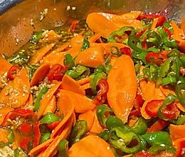 风味胡萝卜辣椒圈的做法