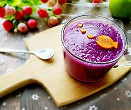 蜜梨紫薯 10分钟快手早餐的做法