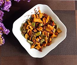 腊八蒜炒杏鲍菇的做法