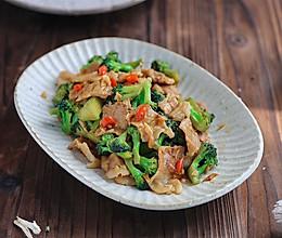 #中秋宴,名厨味#五花肉炒西兰花的做法