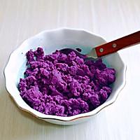 #换着花样吃早餐#紫薯雪山的做法图解4