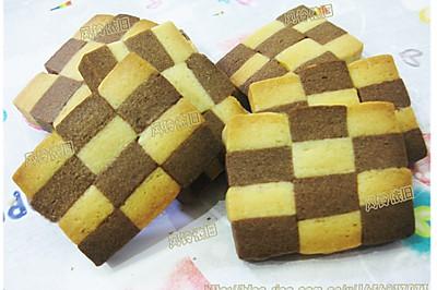 双色棋格饼干