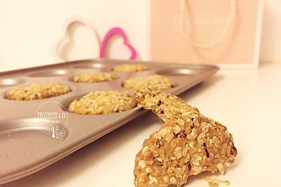 蔓越莓红糖燕麦饼干~低脂饱腹能量足