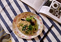 蘑菇蛋炒饭的做法