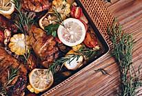 柠香时蔬烤鸡腿,温一壶酒,想吃,就拿爱情来换。的做法