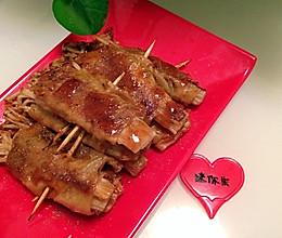 铁板烧—豆皮金针菇的做法