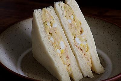 不一样的美味——金枪鱼土豆鸡蛋三明治