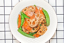 荷塘小炒,微辣爽口新做法,15分钟家常菜的做法