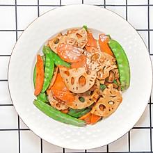 荷塘小炒,微辣爽口新做法,15分钟家常菜