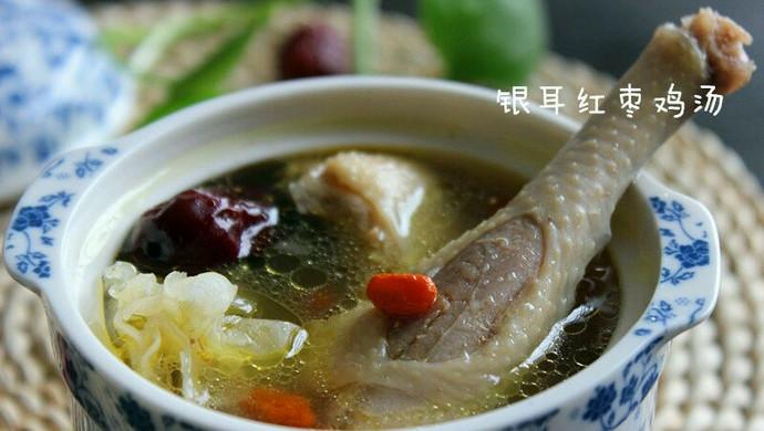 银耳红枣鸡汤#美的微波炉菜谱#
