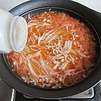 金针菇番茄蛋汤#舌尖上的春宴#的做法图解7
