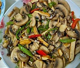 炒口菇的做法