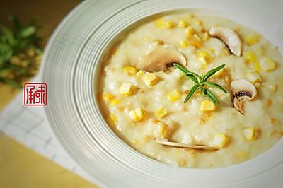 意大利糙米奶油蘑菇饭#发现粗粮之美#