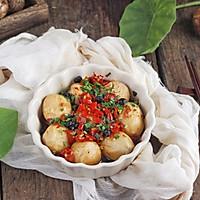 剁椒蒸芋艿,比肉还好吃