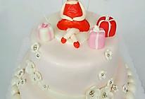 双层翻糖蛋糕(自制糖粉、翻糖膏)的做法