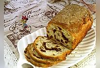 #硬核菜谱制作人#肉桂葡萄干核桃面包的做法