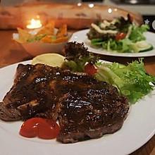 法式黑椒嫩牛排