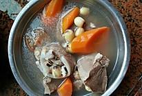 萝卜莲子芡实猪舌汤的做法
