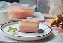 北海道双层芝士樱花蛋糕#中粮我买,春季踏青#的做法