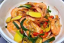 #少盐饮食 轻松生活#不下一滴水客家口味的下酒菜:盐焗虾的做法