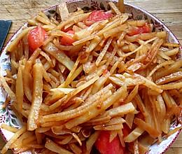 西红柿炒土豆丝的做法
