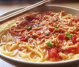 番茄鸡蛋玉米面条的做法
